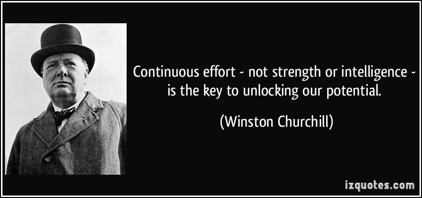 Winston Churchill Quote Success