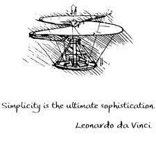 SImplicity --- Leonado Da Vinci